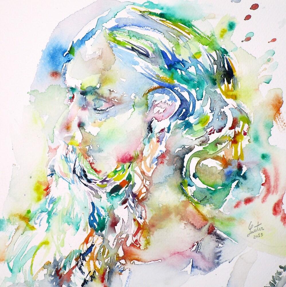TAGORE - watercolor portrait by lautir