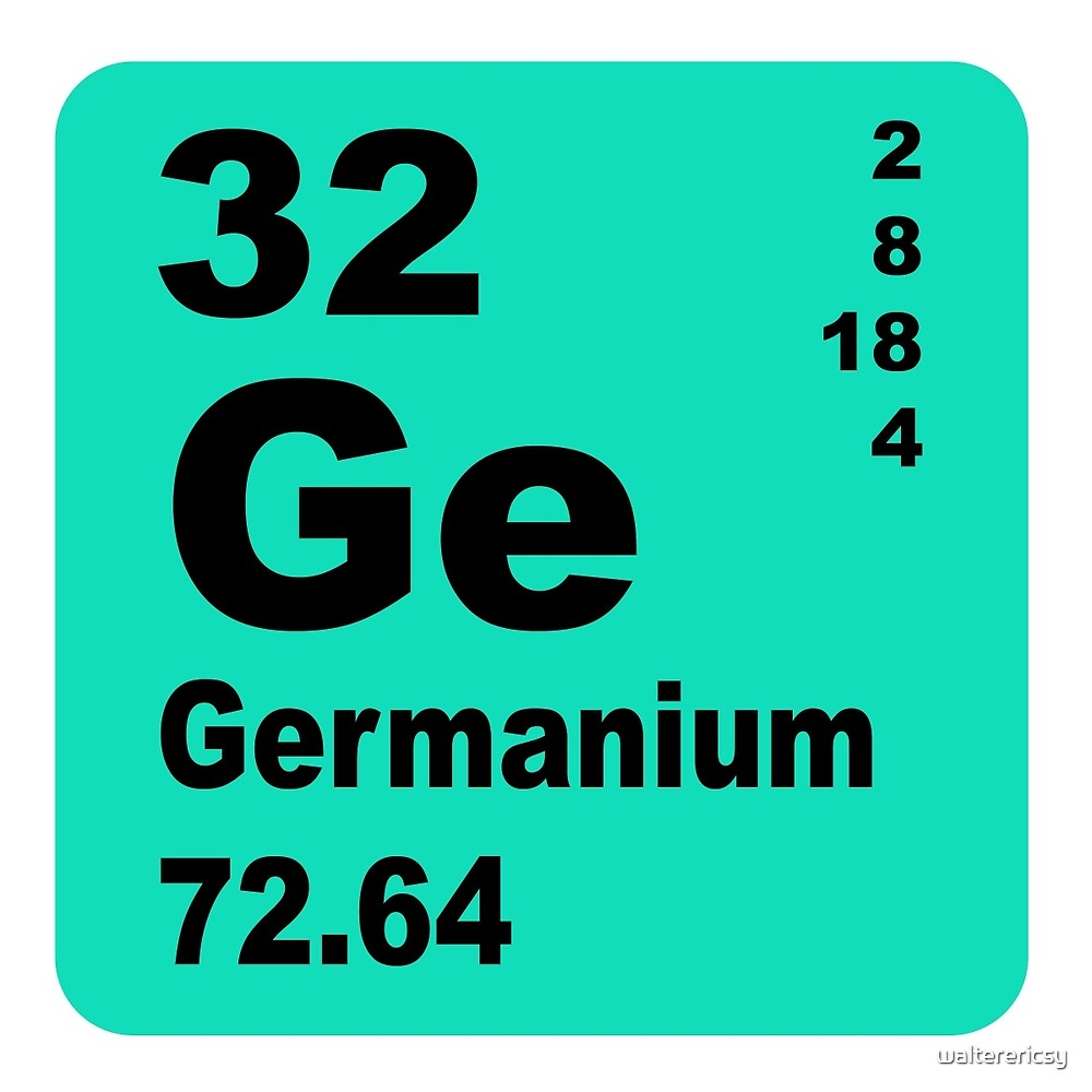 Germanium Periodic Table of Elements by walterericsy