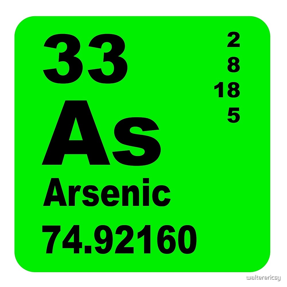 Arsenic Periodic Table of Elements by walterericsy