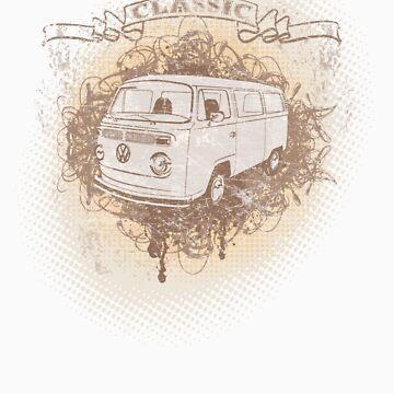 Volkswagen Tee Shirt - Classic Kombi by KombiNation