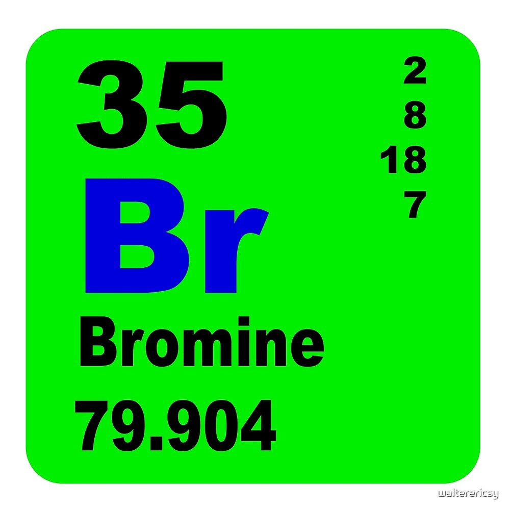 Bromine Periodic Table of Elements by walterericsy