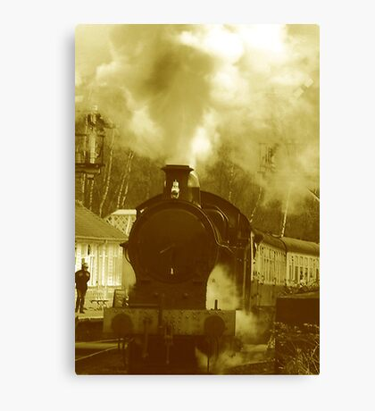 Steam Canvas Print