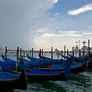 Venetian Blue Boats by AmyRalston