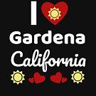 «Idea soleada del regalo de California Amo California California EE. UU. Ciudad de Gardena» de DogBoo