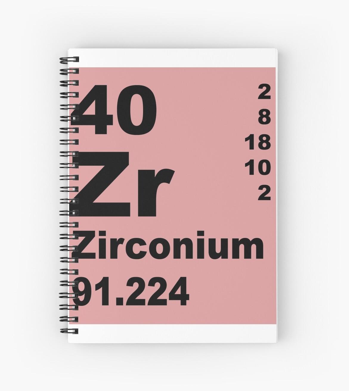 Cuadernos de espiral tabla peridica de elementos de zirconio de tabla peridica de elementos de zirconio de walterericsy urtaz Choice Image