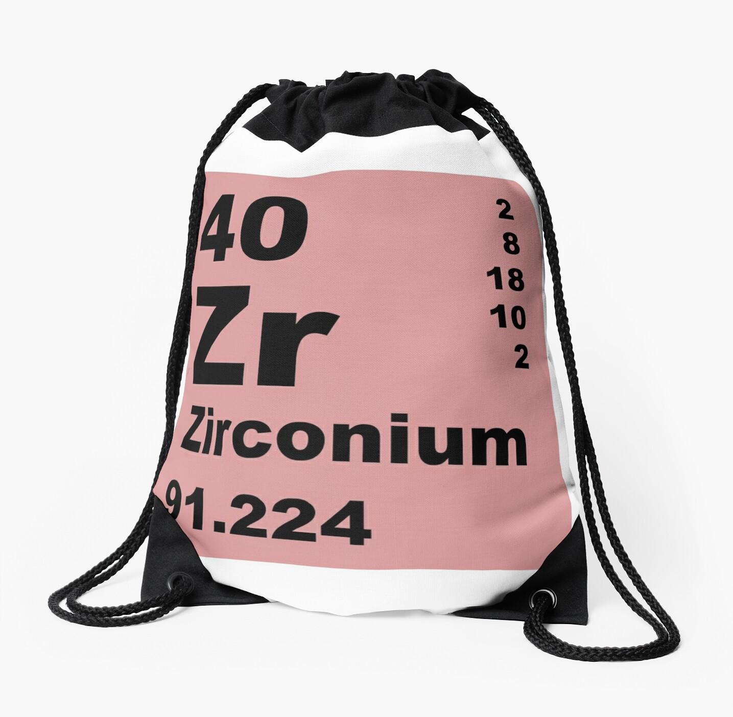 Mochilas de cuerdas tabla peridica de elementos de zirconio de tabla peridica de elementos de zirconio de walterericsy urtaz Image collections
