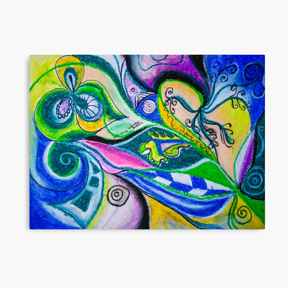 Blue Green Tones Movement Abstract Canvas Print