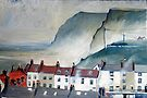 Misty Day Staithes by Sue Nichol