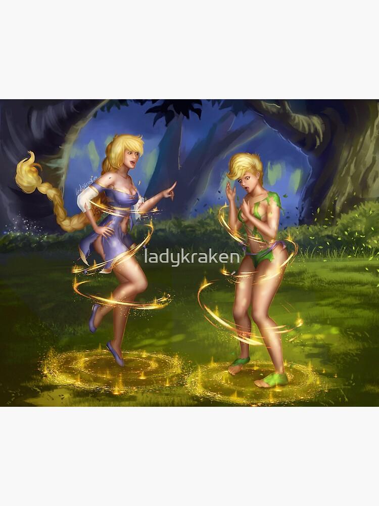 Forest Golden Magic by ladykraken