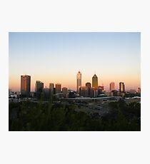 Perth City on sunset Photographic Print