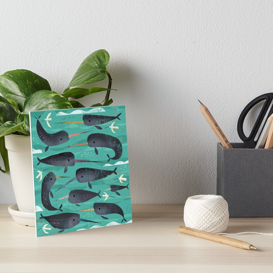 Narwhals and Narbirds Art Board Print