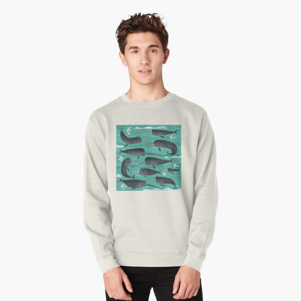 Narwhals and Narbirds Pullover Sweatshirt
