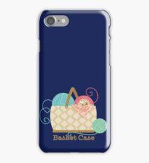 Funny knitting crochet yarn basket case iPhone Case/Skin
