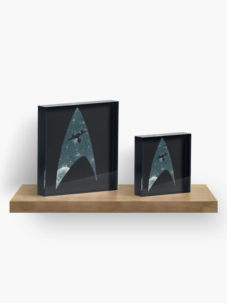 Alternate view of Space the final frontier Acrylic Block
