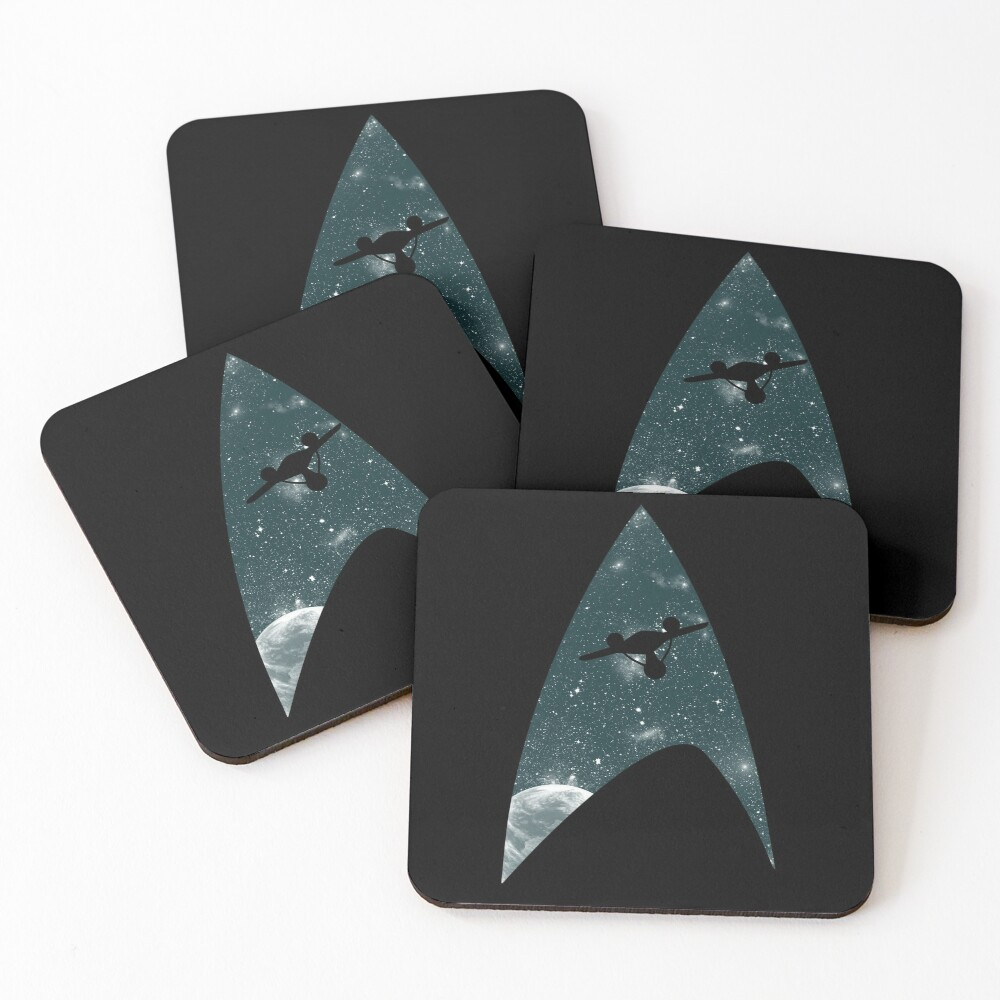 Space the final frontier Coasters (Set of 4)