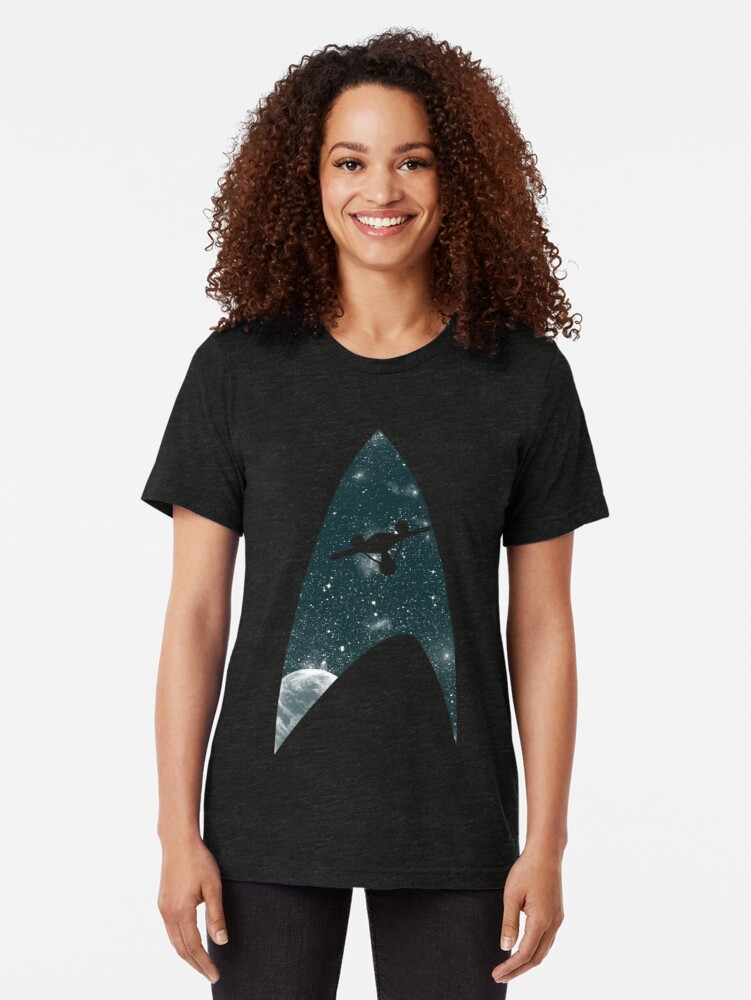 Alternate view of Space the final frontier Tri-blend T-Shirt