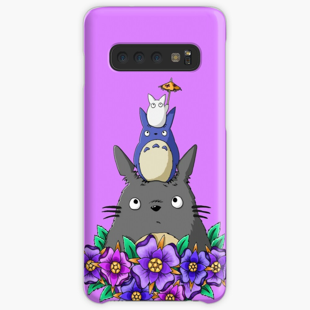 Totoro Tower and Flowers Case & Skin for Samsung Galaxy