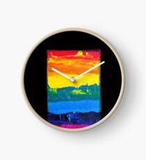 Reloj Bandera De Arco Iris Pintada A Mano 2
