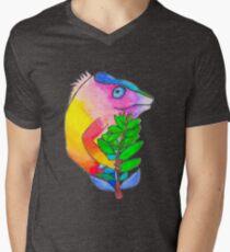 Chamaleon Mens V-Neck T-Shirt