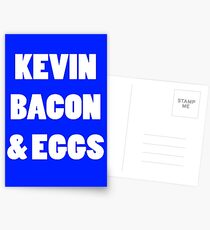 80s kevin bacon and eggs geek funny nerd Postcards