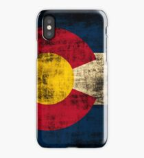 Vintage Grunge State of Colorado Flag iPhone Case/Skin