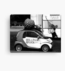 Advertisements on wheels Canvas Print