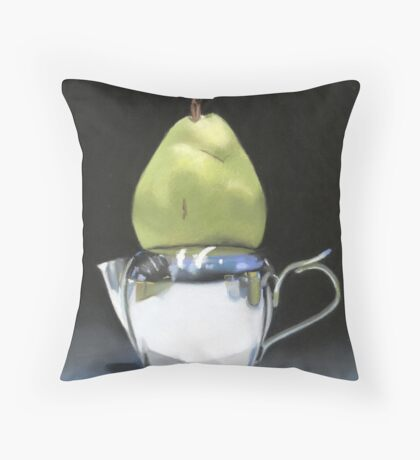 pear and milk pitcher Throw Pillow