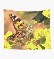 Distelfalter Schmetterling auf Myrtle Spurge Wandbehang