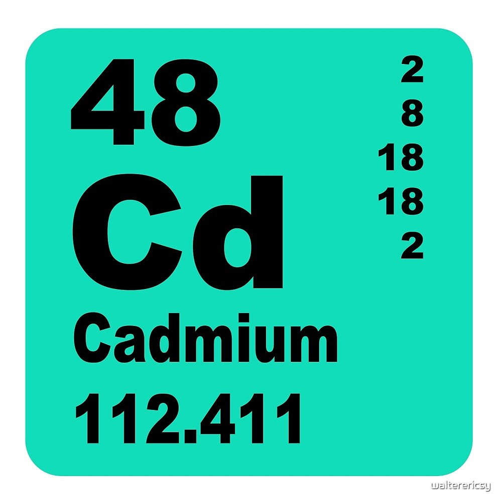 Cadmium Periodic Table of Elements by walterericsy
