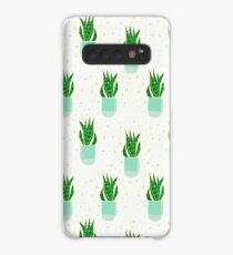 Snake Plant Pattern Case/Skin for Samsung Galaxy