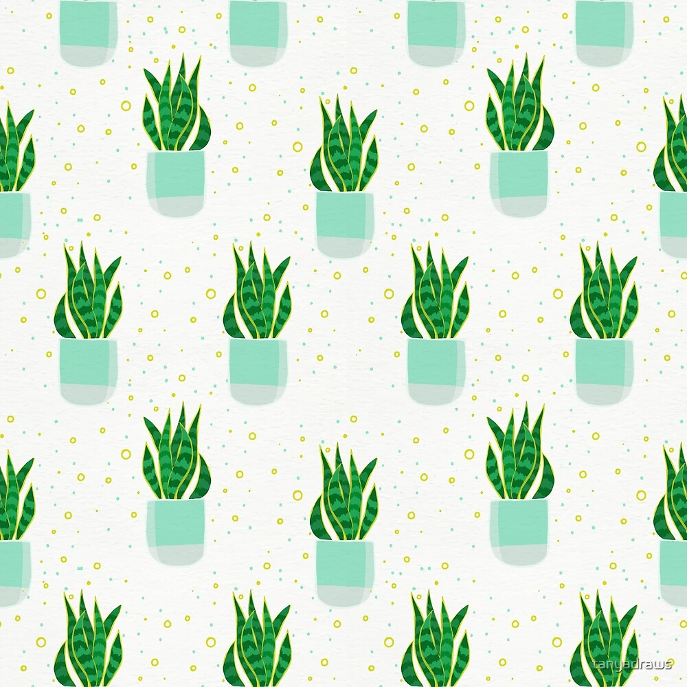 Snake Plant Pattern by tanyadraws