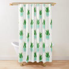 Snake Plant Pattern Shower Curtain