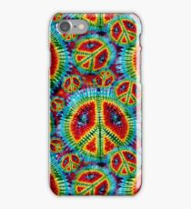 Psychedelic Tie Dyed Peace Signs Pattern iPhone Case/Skin