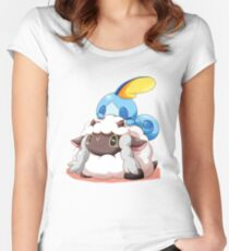Sobble and Wooloo Fitted Scoop T-Shirt