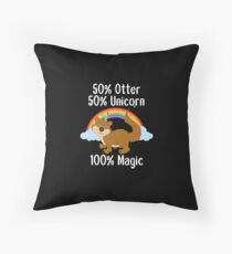 Cute Otter Unicorn Zoo Pet Wild Animal Lover Gift Throw Pillow
