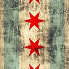 Vintage Grunge Chicago Flag by iEric