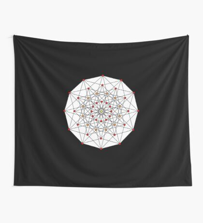 6-cube hexeract  Wall Tapestry