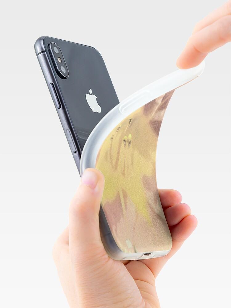Alternative Ansicht von Orange asiatische Lilie Sketch1 iPhone-Hüllen & Cover