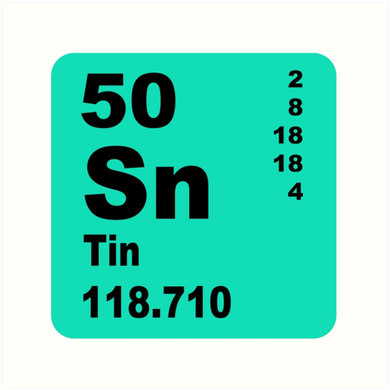 Tin periodic table of elements art print by walterericsy tin periodic table of elements by walterericsy urtaz Choice Image