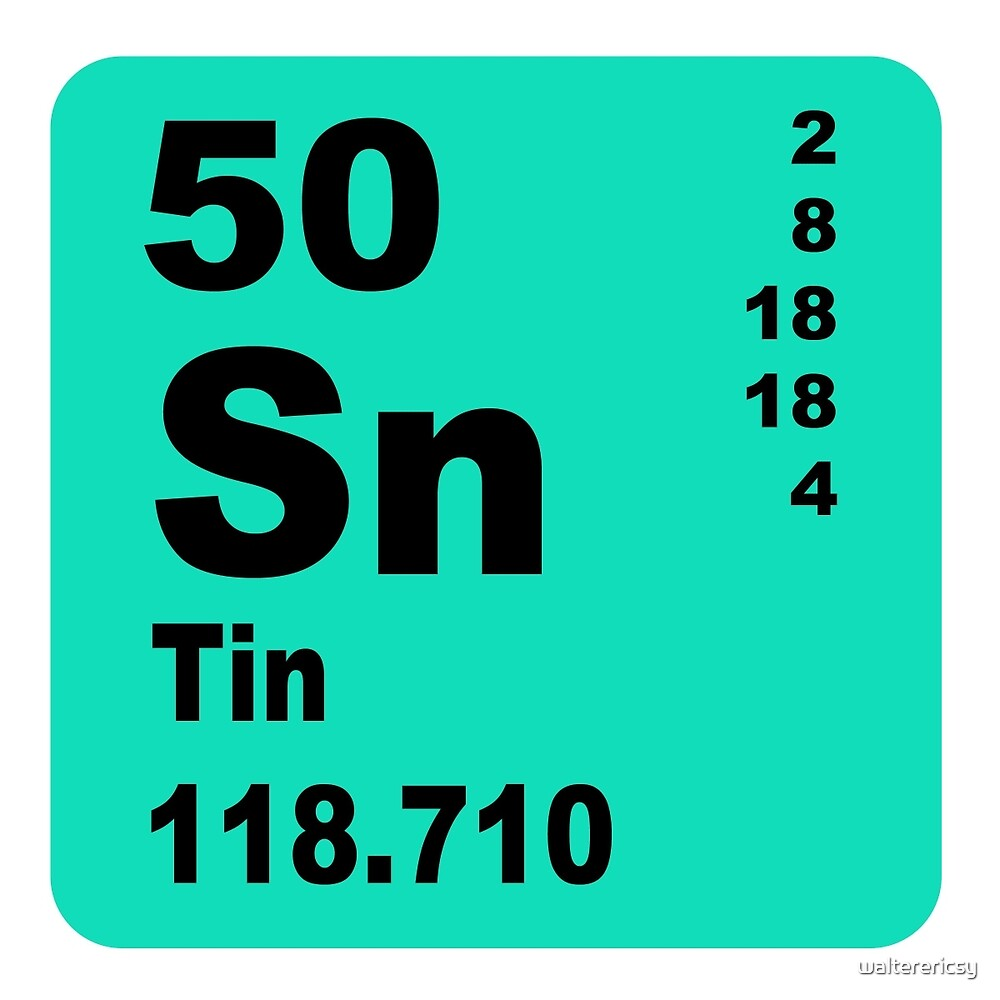 Tin Periodic Table Of Elements By Walterericsy Redbubble
