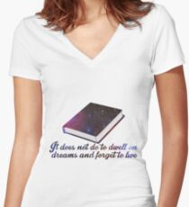 Rowling-Inspired Quote Women's Fitted V-Neck T-Shirt
