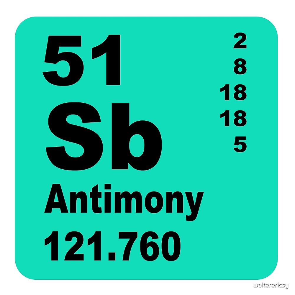 Antimony Periodic Table of Elements by walterericsy