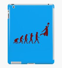 Basketball evolution geek funny nerd iPad Case/Skin