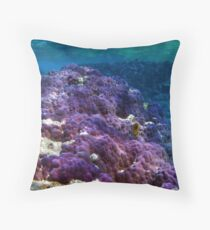 Swimming in the Blue Throw Pillow
