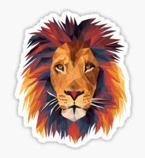 Low-poly Lion Sticker