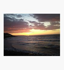 Sunset landscape  Photographic Print