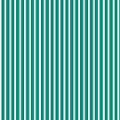 Teal and White Stripe by ArtFactory5