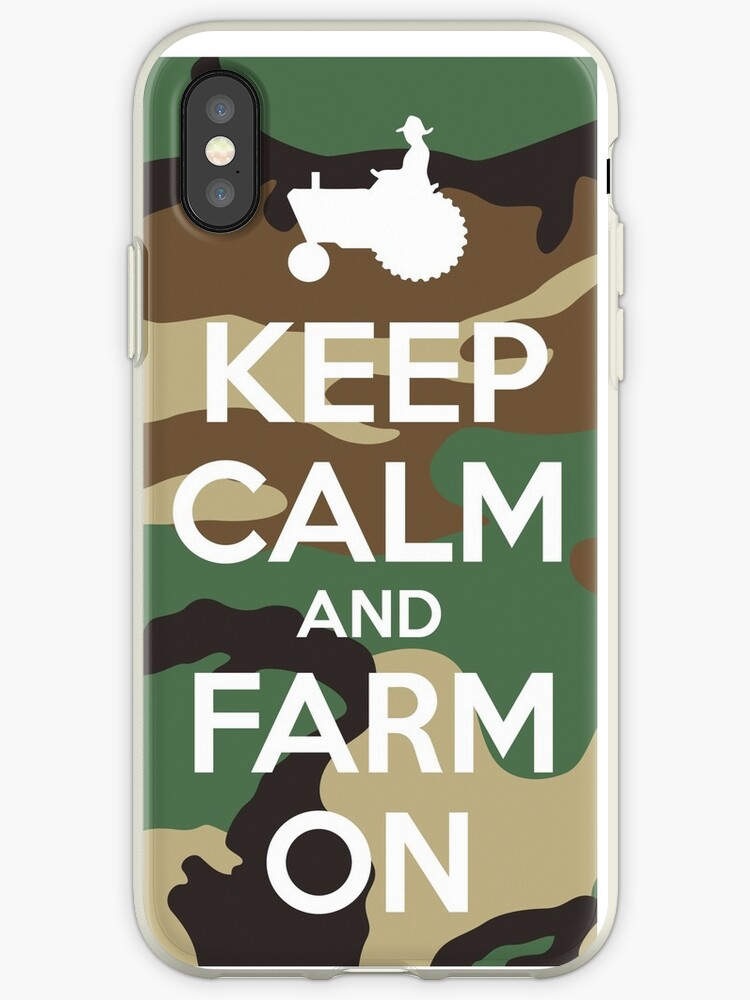 Camo Pattern Keep Calm and Farm On by frittata