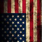 Rustic Patriotic American Flag by iEric