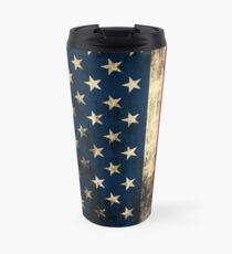 Rustic Patriotic American Flag Travel Mug